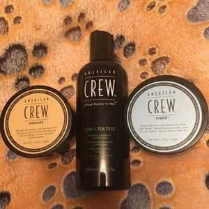 3 American crew hair products